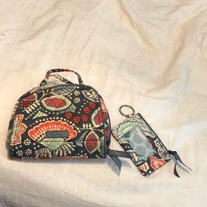 Jewelry bag with matching key chain/change purse.